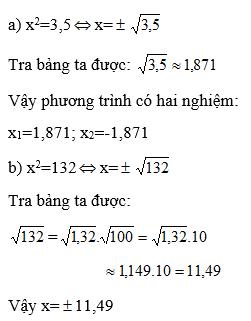 giai toan lop 9 bai 5 bang can bac hai 5 - Giải Toán lớp 9 Bài 5: Bảng căn bậc hai