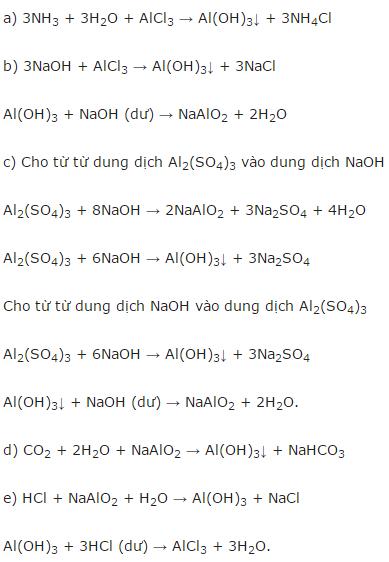 giai hoa lop 12 bai 29 luyen tap tinh chat cua nhom va hop chat cua nhom - Giải Hóa lớp 12 bài 29: Luyện tập: Tính chất của nhôm và hợp chất của nhôm