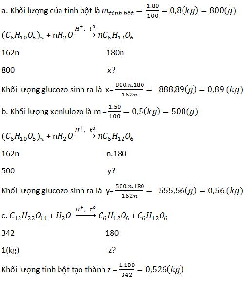 giai hoa lop 12 bai 7 luyen tap cau tao va tinh chat cua cacbohidrat - Giải Hóa lớp 12 bài 7: Luyện tập: Cấu tạo và tính chất của cacbohiđrat