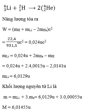 giai ly lop 12 bai 36 nang luong lien ket cua hat nhan phan ung hat nhan 15 - Giải Lý lớp 12 Bài 36: Năng lượng liên kết của hạt nhân. Phản ứng hạt nhân