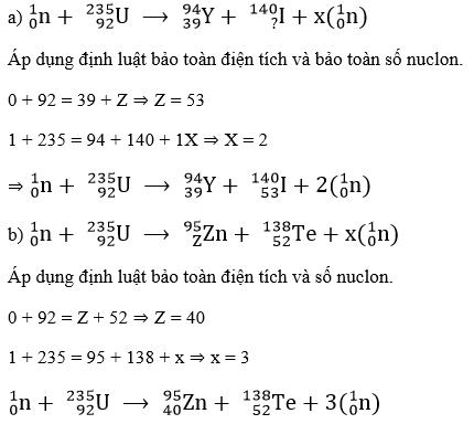 giai ly lop 12 bai 38 phan ung phan hach 2 - Giải Lý lớp 12 Bài 38: Phản ứng phân hạch