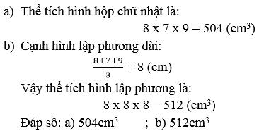 giai toan lop 5 the tich hinh lap phuong 2 - Giải Toán lớp 5 Thể tích hình lập phương